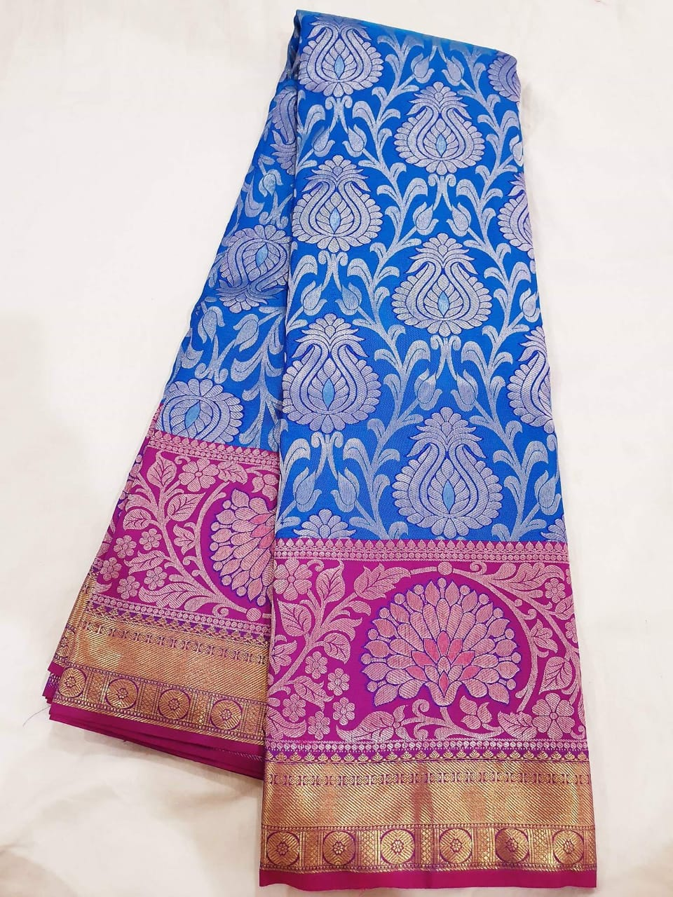 kanchipuram handwoven pure silk saree