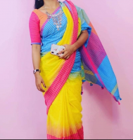 Khadi ikkat cotton saree