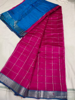 Mangalagiri pattu zari checks saree