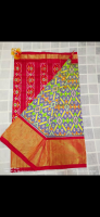 Pochampally Ikkath silk saree with kuddy border