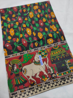 Mangalgiri kalamkari cotton saree
