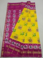 Ikkath silk bone checks saree