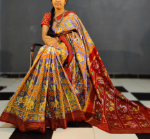 Special pochampally ikkath silk saree