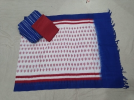 Pochampally double ikkat cotton dress materials