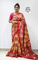 Special bhone checks sarees pochampally ikkath silk saree with checks blouse