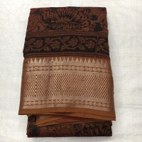 Hand woven mangalagiri silk cotton natural dye saree