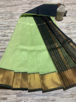Mangalagiri pattu plain with 150k border saree