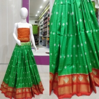 Pochampally ikkat silk medium size lehghas