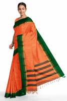 Mangalgiri cotton kuppadam plain border saree