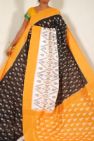 Ikkat pure cotton saree