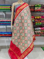 Mangalgiri cotton zari border saree