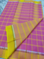 Mangalgiri cotton checks saree
