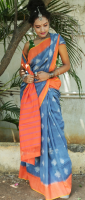Double Ikkath cotton saree