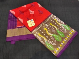 Ikkath silk saree