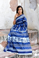 Bagru printed saree