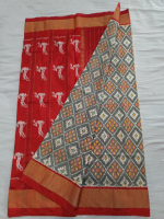 Ikkat Pure Silk saree