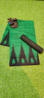 Ikkat Temple border cotton saree