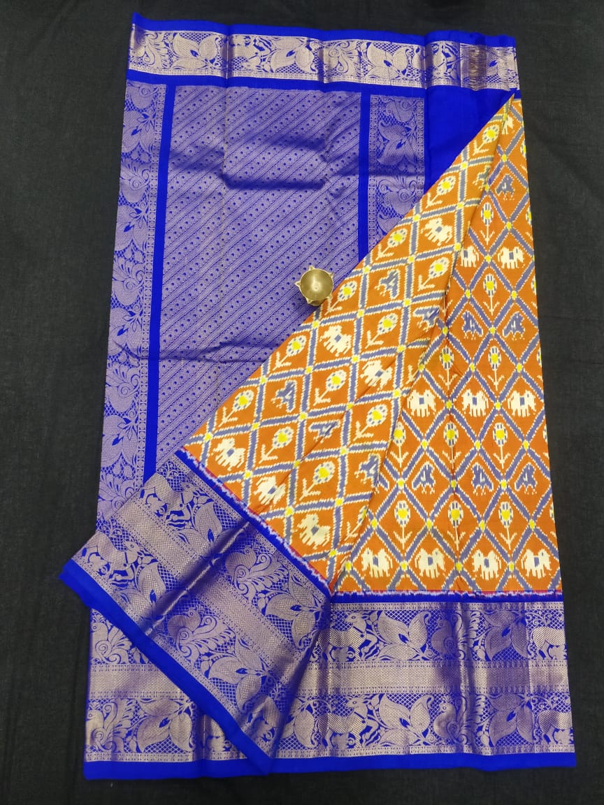 Pochampally ikkat silk zakat saree